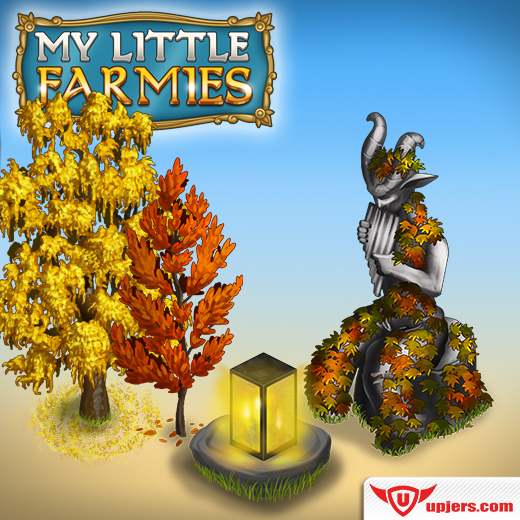 Autumnal decoration in My Little Farmies! - Upjers.com